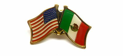 US and Mexico Flag Lapel Pin / US & Mexico Pin