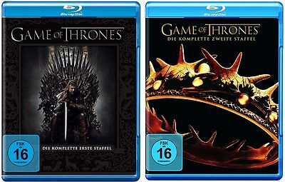 Game of Thrones Staffel 1+2 Blu-ray Set NEU OVP