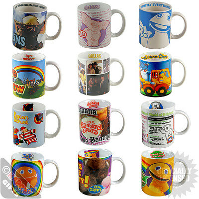 Funky Retro Mugs - RAINBOW - GREMLINS - DALLAS - GREAT GIFTS - RETRO TELEVISON
