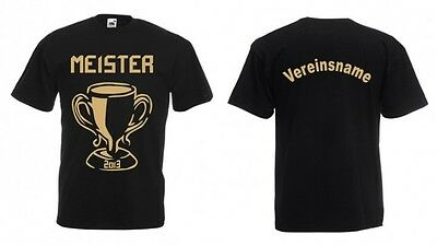 10x FUN T-SHIRT Meister Meistershirt in 20 Farben / Flock 24 Farben