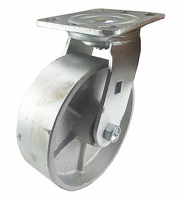 "6"" x 2""  Steel Wheel Caster - Swivel"