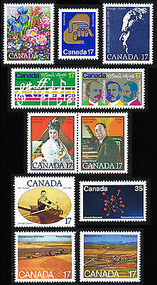 Canada 1980 855 - 865 ODD LOT = MINT SINGLES & PAIRS = VF+ NH PO FRESH!