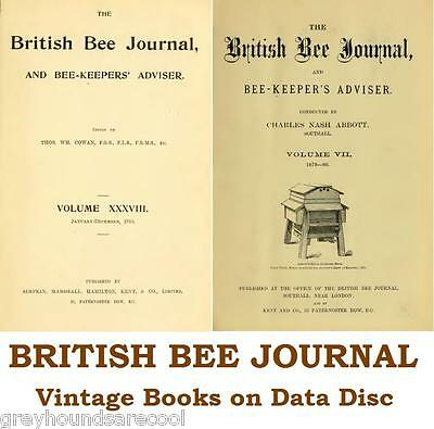 The British Bee Journal and Bee-keepers Adviser 50 Vintage Volumes on Data Disc • EUR 6,59