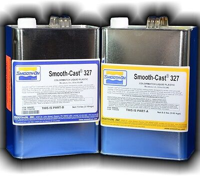 Polyurethane Casting Resin Smooth On Smooth-Cast 327 1 Gallon Kit 6.8kg/15lbs