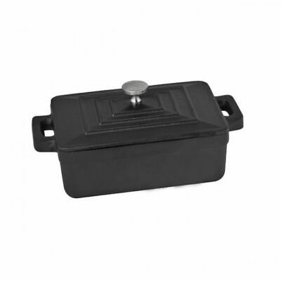 Mini Casserole Dish, Rectangular with Lid, Cast Iron MODA Oven to Table 125x87mm