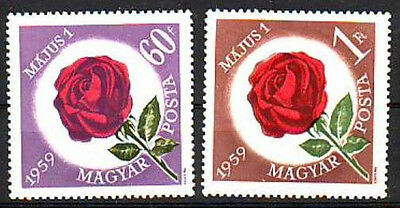 HUNGARY - 1959. May Day, Roses - MNH