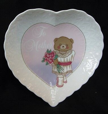 """Mikasa  Delicate Heart Shaped """"to Mother"""" Dish"""