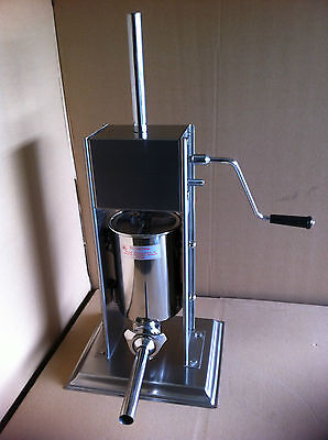Sausage Stuffer Commercial 3 Litre Stainless Steel Filler Maker Vertical Machine