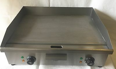 Large Electric Flat Griddle Commercial Hotplate Double Sided Grill Twin Fryer 60