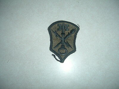 Military Patch Us Army Subdued Green Intelligence Security Command Combat Used