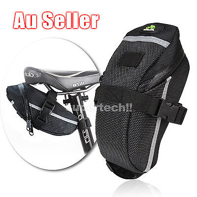 Brand New Cycling Bicycle Bike Outdoor Saddle Pouch Back Seat Bag Black