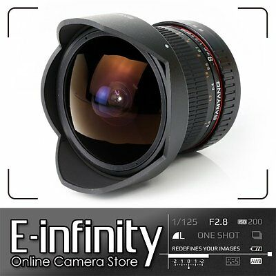 NEW Samyang 8mm f/3.5 UMC Fish-eye CS II Lens for Canon + Detachable Hood