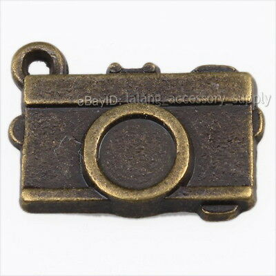 10x 144305 Wholesale Vintage Bronze Camera Charms Alloy Pendant Findings Lots