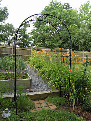5 Foot Wide Garden Arch by Agriframes - Round Style