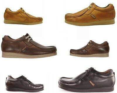 New Mens Base London Storm Lace Up Black Brown Tan Leather Shoes Uk  6 -12