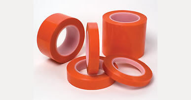 "High Temp 1"" X 72 YDS 2MIL ORANGE POLY TAPE - 430F  Powder Coating coat powder"