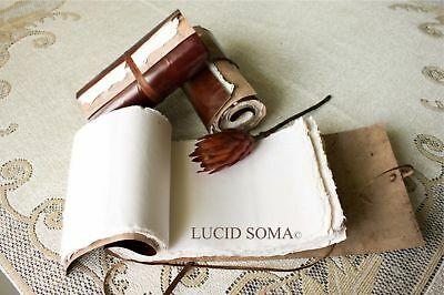 Handmade Paper Eco Leather Roll-up Scroll Journal diary NEW