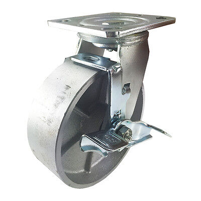 "6"" x 2""  Steel Wheel Caster - Swivel with Brake"