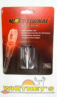 Nockturnal Lighted Nocks NT-200 S Red-Single Pack