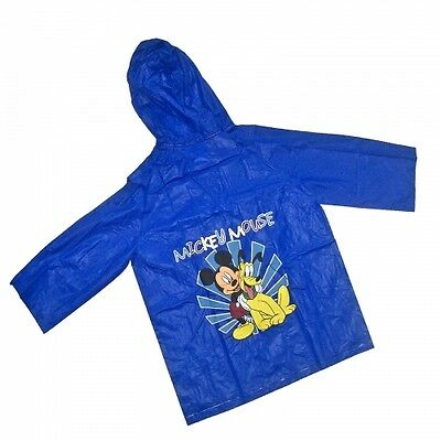Disney Mickey Mouse And Pluto Blue 8 Years Raincoat Brand New Gift