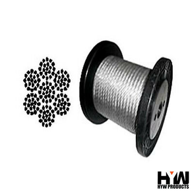 "7 x 19 Galvanized Aircraft Cable Wire Rope 3/16"" - 1,000 ft"