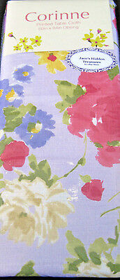 Corinne Floral Printed Tablecloths 100% Polyester 52 x 52 Square