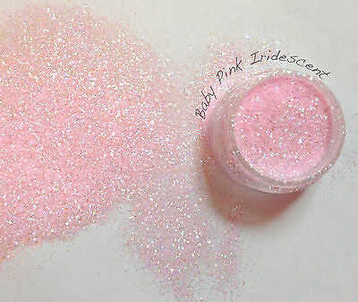 "Rockstar Toes / Nail Glitter 40g  Extra Fine .008"" / .015""/ Baby Pink Iridescent"