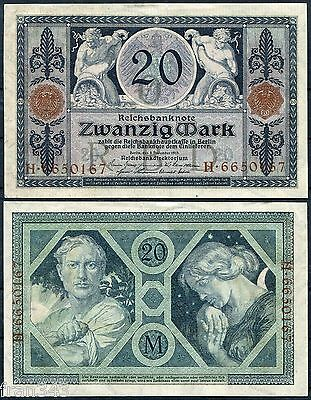 ALEMANIA GERMANY 20 Marcos 1915 Pick 63 SC- /  AUNC