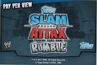 WWE Slam Attax TCG Rumble Choose One Pay Per View Card from List