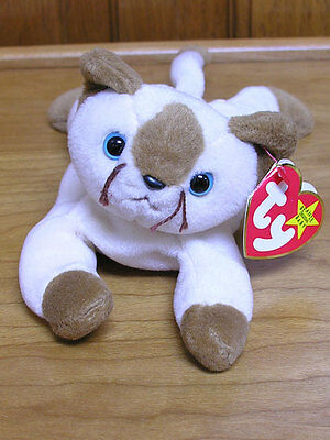 ty Beanie Babies 1996 Snip the Siamese Cat Mint with Tags