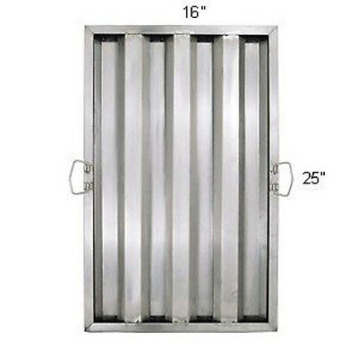 "1pc Hood Filter/Grease Baffle 25""Hx16""W, Stainless Steel, Commercial Range"