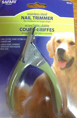 Safari Professional  Dog Stainless Steel Nail Gillotine Trimmer Soft Grip
