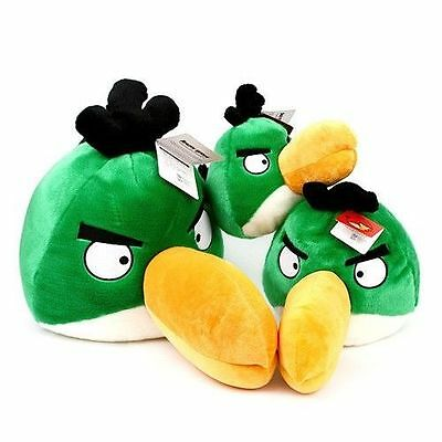 ANGRY BIRDS - Official Goods : Character Plush Doll (Green  Bird : 3 Size)