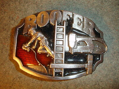 1988 Collectible Siskiyou Buckle Co Roofer Belt Buckle Made In USA Tools Ladder