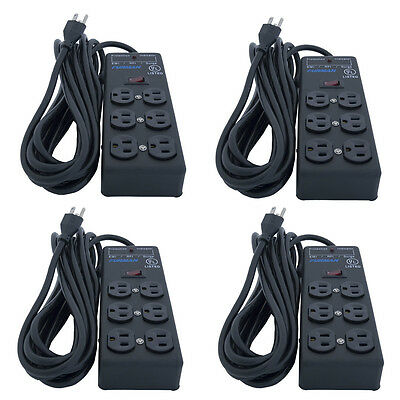 4x Furman SS-6B Pro Plug 6 Outlet AC Surge Power Strip Conditioning