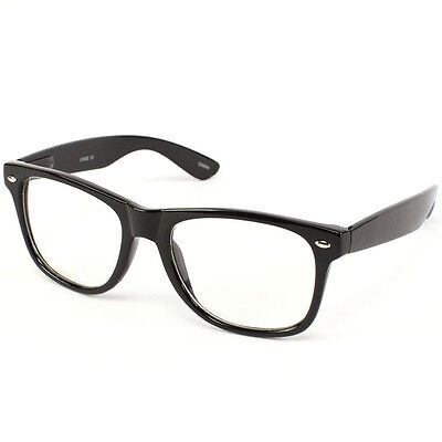 Nerd Geek Retro Clark Kent Clear Lens Buddy Eye Glasses Black  Frame