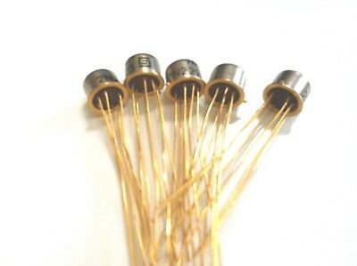 2N2223  DUAL MATCHED NPN Transistors metal case LOT OF 5