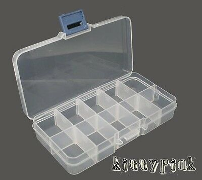Clear Plastic Transparent Jewellery Making Beads Storage Box Craft Findings