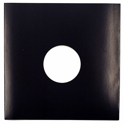 """50 12"""" Card Replacement Black Record Sleeves *new*"""