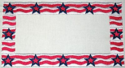 Patriotic Embroidered Quilt Label Customize for quilt tops or blocks