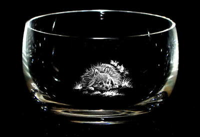 POMERANIAN  *DOG GIFT* 12.5cm Boxed CRYSTAL GLASS SWEET BOWL