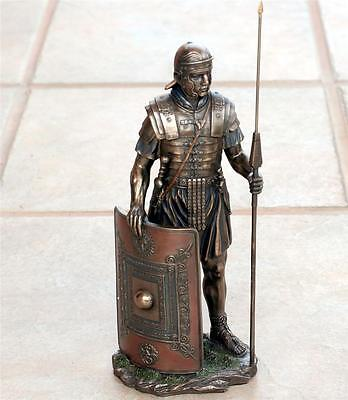 VERONESE ART ROMAN Soldier LEGIONAIRE with Spear Shield STATUE FIGURE FIGURINE B