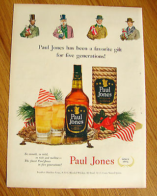 1951 Paul Jones Whiskey Ad  Five Generations Christmas Favorite Gift