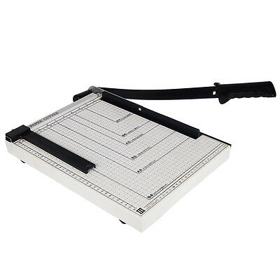 "15"" Paper Cutter Metal Base Trimmer Scrap Booking Desktop Sheet Guillotine Blade"