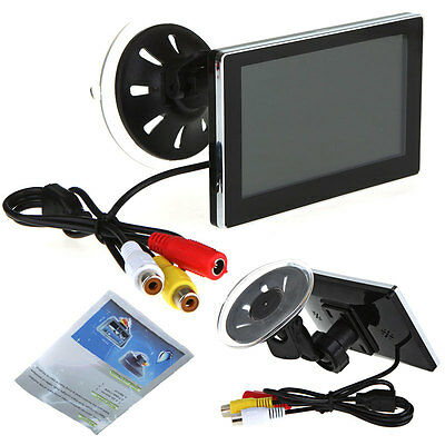 """4.3"""" TFT LCD Slim Car Rearview Monitor With 2 Video Input Reverse Parking Camera"""