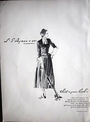 1948 Vintage L.S. Ayres & Co Indianapolis Look Maurice Rentner Womens Suit Ad