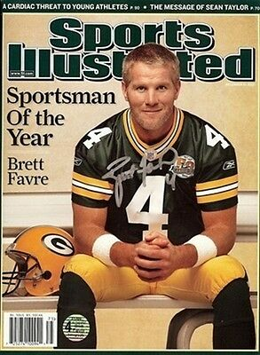 "Brett Favre Autographed/Signed Sports Illustrated ""Sportsman of the Year"" Packer"