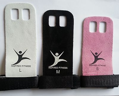 PALM GRIPS LEATHER CROSSFIT GRIPS, WEIGHTS GYM GLOVE PULL UP, ladies & mens S-L