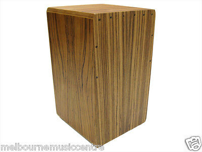 PERCUSSION PLUS CAJON Zebrawood Front Top Back & Sides *w/Padded Bag* NEW!