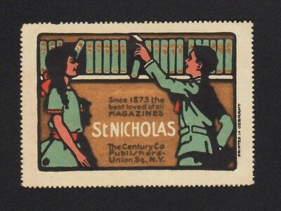 U.S. New York Magazine St. Nicholas 1873 Advertising Poster Stamp Cinderella